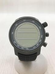 suunto/スント/クォーツ腕時計/デジタル/ラバー/BLK/ss018732000