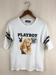 hysteric glamour/playboy/Tシャツ/S/コットン/WHT/MISS ERIKA TOTH