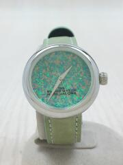 marc jacobs/クォーツ腕時計/アナログ/ラバー/GRN/箱付き