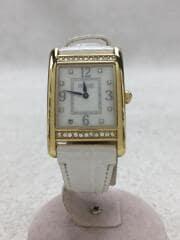 クォーツ腕時計/アナログ/WHT