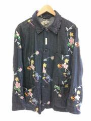 Engineered Garments/クレイトンジャケット/カバーオール/S/コットン/IDG/花柄/刺繍