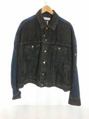 facetasm check denim jacket/Gジャン/4/コットン/PIPPA-JK-M05/チェック/デニムジャケット
