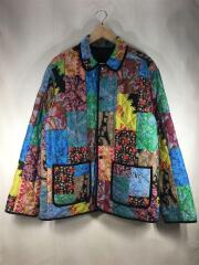REVERSIBLE PATCHWORK QUILTED JACKET/キルティングジャケット/L/コットン/BLK