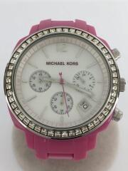 クォーツ腕時計/アナログ/ステンレス/WHT/PNK/MK-5219