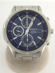 NEW STANDARD/ソーラー腕時計/アナログ/ステンレス/BLU/V176-0AE0