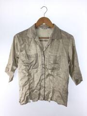 半袖ブラウス/--/--/IVO/ワッシャーサテンスリットシャツ/アセテート素材