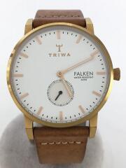クォーツ腕時計/アナログ/レザー/WHT