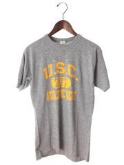 Tシャツ/L/ポリエステル/GRY/80s~/トリコタグ/USA製