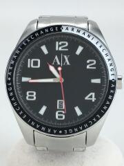 クォーツ腕時計/アナログ/--/BLK/SLV