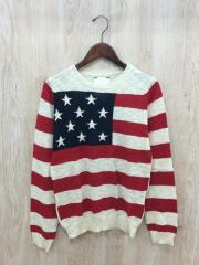 セーター(薄手)/S/リネン/IVO/星条旗/タグ付き/SOPH-130142/