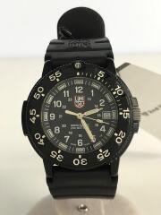 腕時計/アナログ/ラバー/BLK/3000/3900 V3/