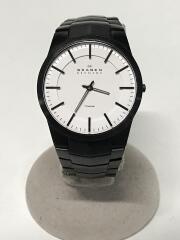 クォーツ腕時計/アナログ/--/WHT/BLK