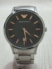 腕時計/アナログ/ステンレス/BLK/AR-2514