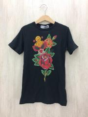Tシャツ/130cm/コットン/BLK
