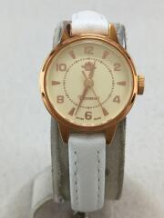 腕時計/アナログ/アイボリー/ホワイト