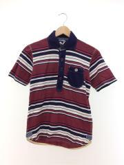 ポロシャツ/S/コットン/マルチカラー/ボーダー/WM-T008/AD2013