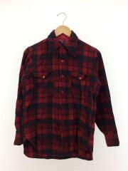 長袖シャツ/--/ウール/RED/チェック/ネルシャツ