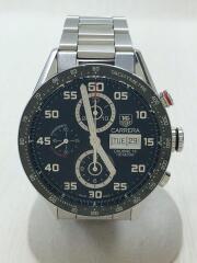 タグホイヤー/CV2A1R/自動巻腕時計/アナログ/ステンレス/ブラック/クロノグラフ carrera カレラ calibre16 バックスケルトン