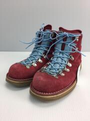 トレッキングブーツ/US8/RED/スウェード