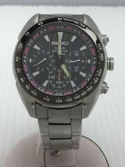 ソーラー腕時計/アナログ/ステンレス/V175-0AK0