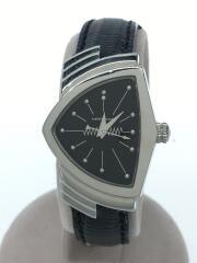 H242112/クォーツ腕時計/アナログ/レザー/BLK/BLK