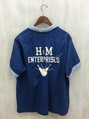 半袖シャツ/XL/コットン/BLU