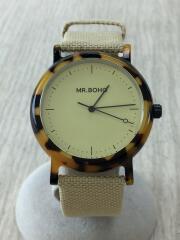 腕時計/アナログ/キャンバス/YLW/BEG