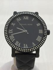 クォーツ腕時計/アナログ/BLK
