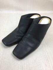 Leather Square Mule/19AW/11921005/パンプス/38/BLK