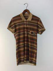 ポロシャツ/46/コットン/BRW