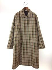 OUBLE FACE CHECK SOUTIEN COLLAR COAT/19AW/コート/4/ウール/BRW/チェック