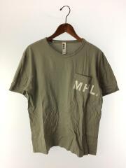 ロゴ/Tシャツ/L/コットン/GRN/596-166475