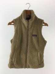 Los Gatos Fleece Vest/S/ポリエステル/ベージュ/STY25215FA14