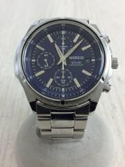 ソーラー腕時計/アナログ/ステンレス/V176-0AB0