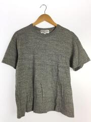 Tシャツ/クルーネック/バックロゴ/M/コットン/グレー