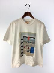 PLAN C/Tシャツ/S/コットン/WHT