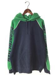 パーカー/XL/コットン/GRN/SUPREME 17AW GT Hooded Sweat Shirt/プルオーバー スリーブロゴプリント