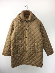キルティングジャケット/40/ポリエステル/BEG/G192APQCO0128A/フーデッドキルティングコー