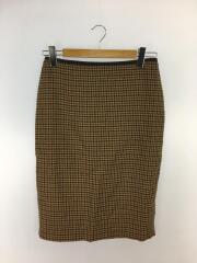 スカート/42/ウール/BRW/チェック
