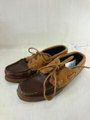 デッキシューズ/US8/BRW/SPORT BOAT SHOES