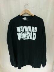WAYWARD/長袖Tシャツ/GET LUCKY/L/コットン/BLK