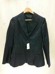スーツ/ジャケット/パンツ/スカート/M/ウール/BLK/ストライプ