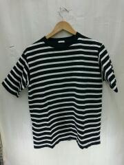 クルーネックボーダーTEE/Tシャツ/1/コットン/WHT/ボーダー/K01-05003