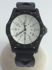 ×TIMEX/リストウォッチ/サファリ/腕時計/アナログ/レザー/BLK/TW2R11200