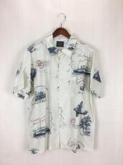 18SS/バイグラッドハンド/POSTAL- S/S SHIRTS/半袖シャツ/XL/リネン/ホワイト/白