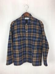 グラフペーパー/ベーシック/ウールチェックミリタリーシャツ/ネルシャツ/1/ウール/ブラウン/チェック