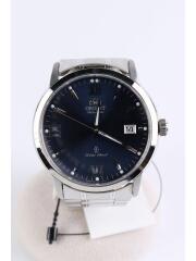 自動巻腕時計/アナログ/NVY/SLV