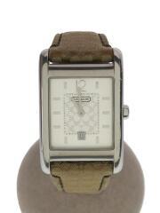 クォーツ腕時計/アナログ/キャンバス/SLV