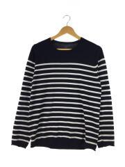 セーター(薄手)/M/コットン/NVY/ボーダー/SOPH-160129