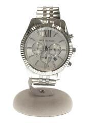 クォーツ腕時計/アナログ/ステンレス/WHT/SLV/mk-8405